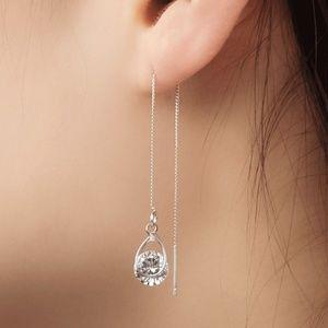 Zircon Modeling thread chain fashion Earrings